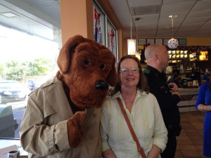 McGruff and Judy hang out with Officer Sean