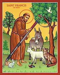 St-Francis-With-AnimalsAndACatchPole