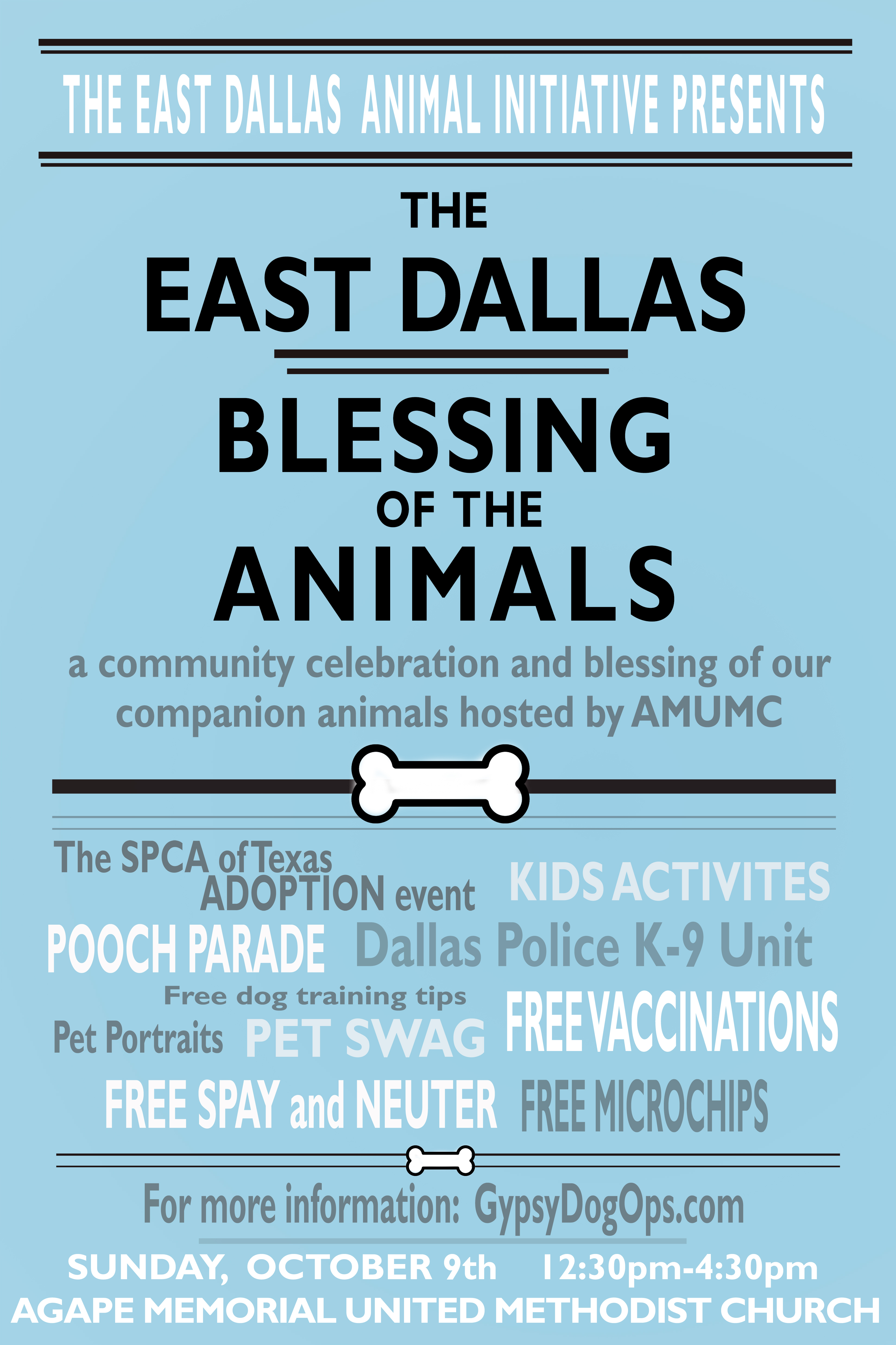 Gypsy Dog Ops Save The Date The 1st Annual East Dallas Blessing